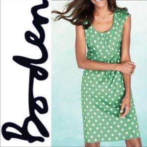 Boden green polka dot dress